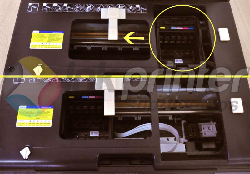 Deslocando o carrinho da impressora Epson T50