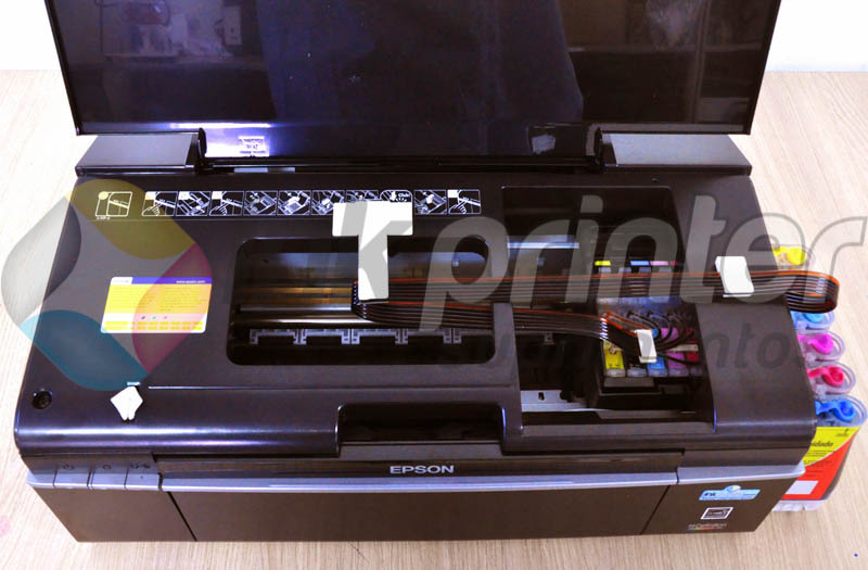 Posição correta da mangueira do bulk ink na epson T50