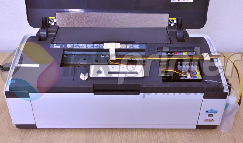 Posição correta da mangueira do bulk ink na impressora Epson T1110