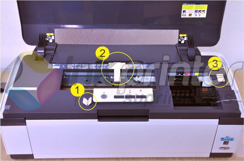 Colocando Presilhas na Impressora Epson T1110.