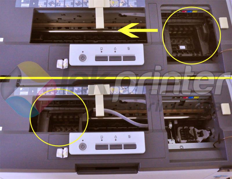 Deslocando o carro da impressora Epson T1110