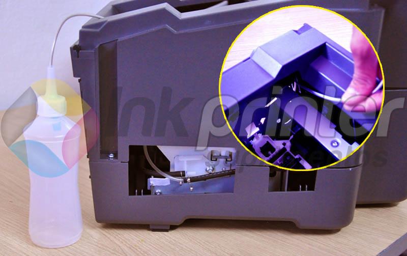 Instalando coletor de resíduo na impressora Epson T1110
