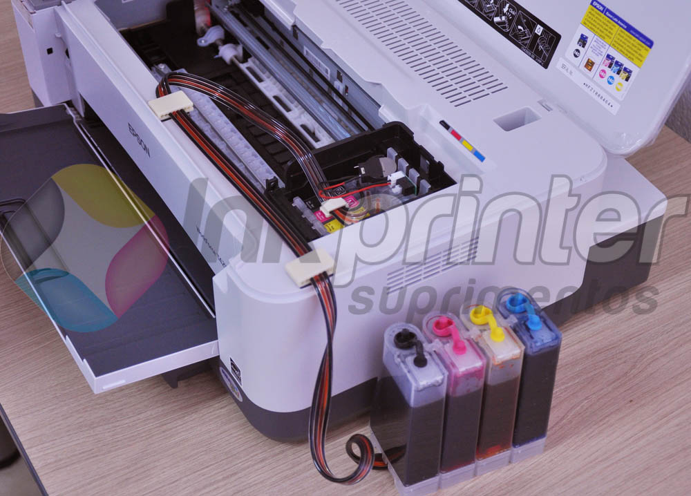 Posição Correta da Mangueira do Bulk Ink na Impressora Epson Work Force T42WD