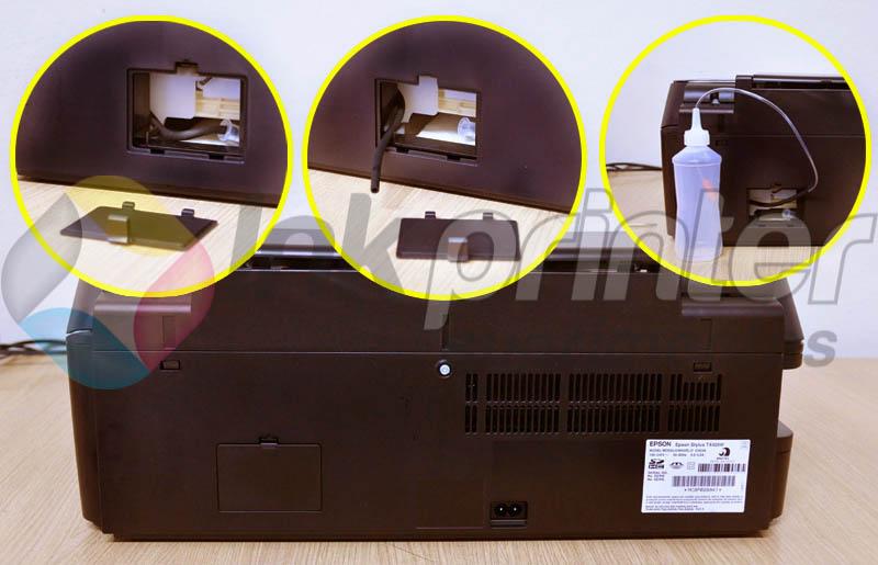 Colocando coletor de residuo na impressora Epson TX 420W