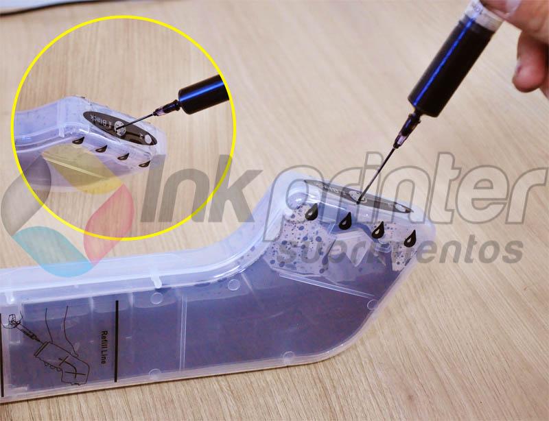 Abastecendo Bulk Ink HP 8000