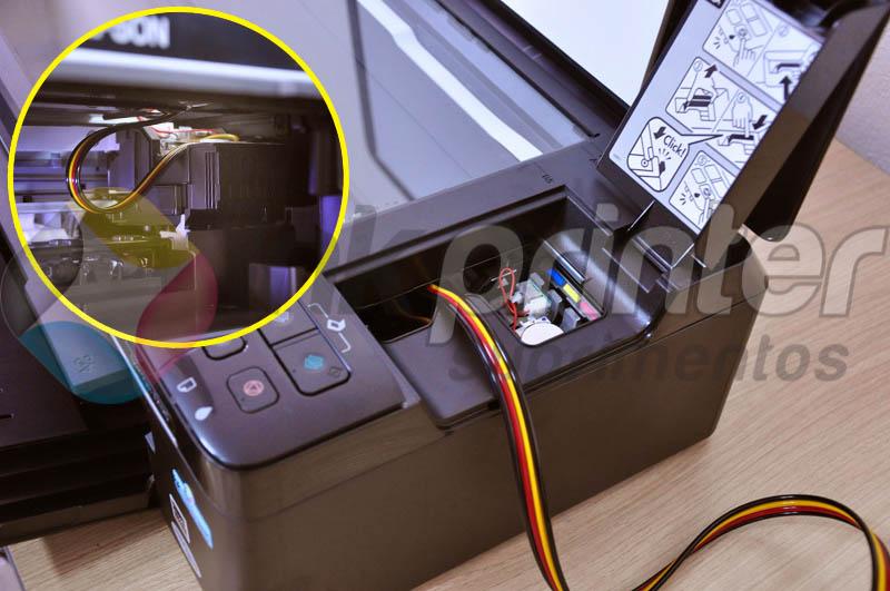 Passando Mangueira do Bulk Ink na Impressora Epson TX 125