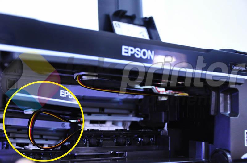 Posição Correta da Mangueira do Bulk Ink na Impressora Epson TX 125