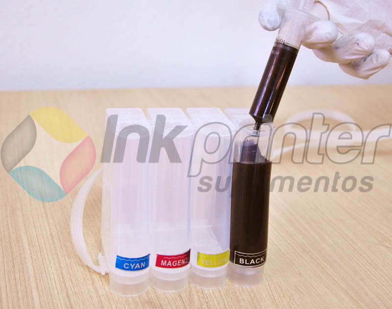 Carregando Bulk Ink Epson TX 125