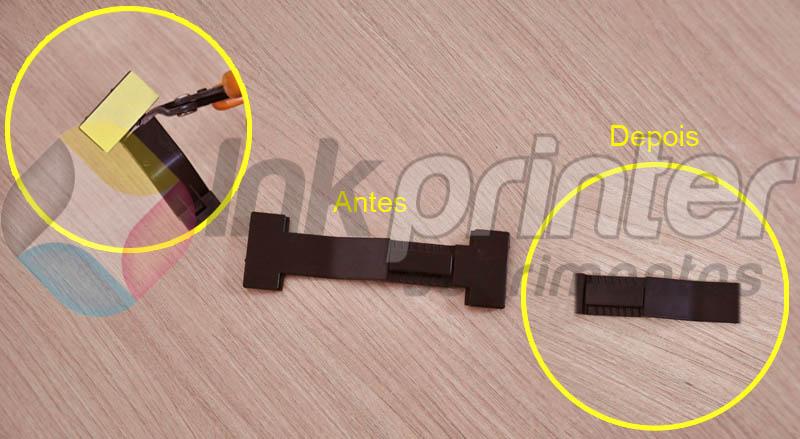 Adaptando peça para instalação de bulk ink Epson TX 420W