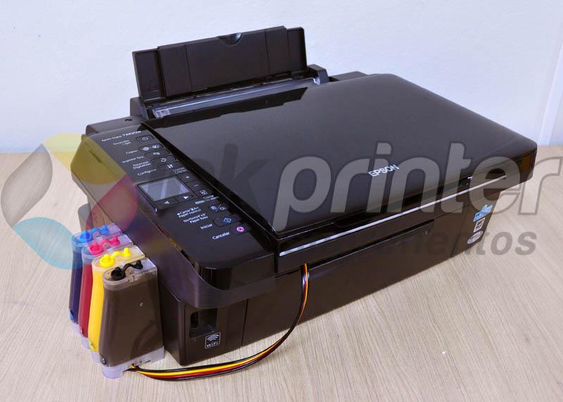 Impressora Epson TX 420W com bulk ink instalado