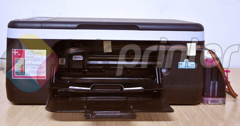 Posição Correta da Mangueira do Bulk Ink HP na Impressora HP F4180