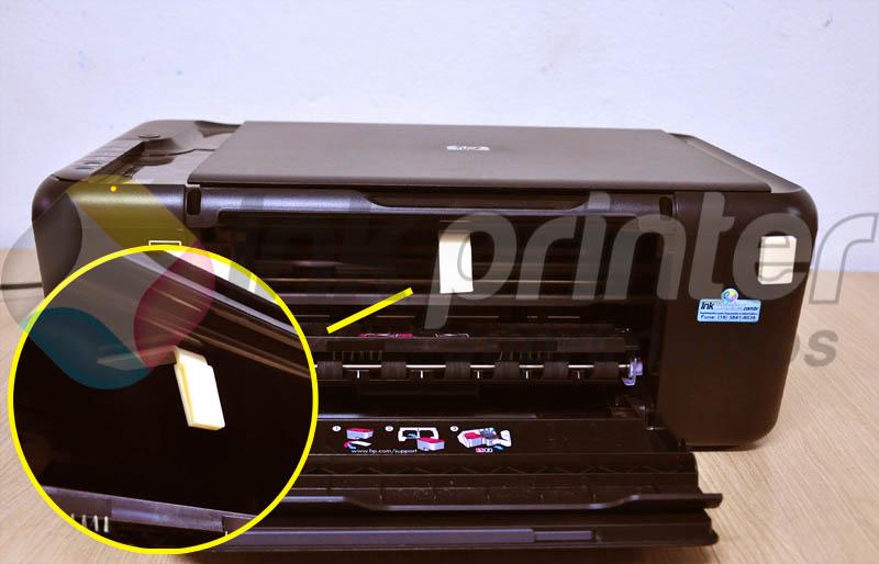 Colando presilhas do Bulk Ink na Impressora HP F4480
