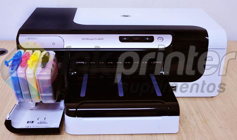 Bulk Ink HP 8000 Instalado